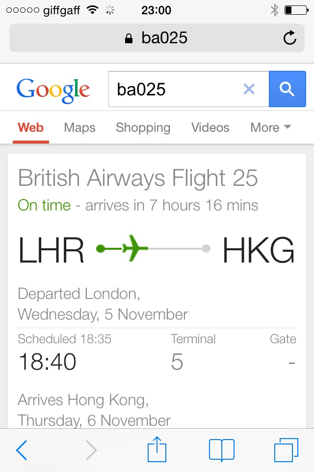 google flight number search