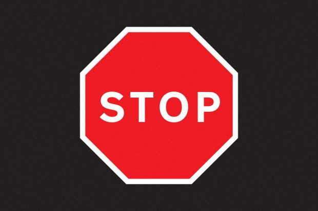 Stop sign used on roads