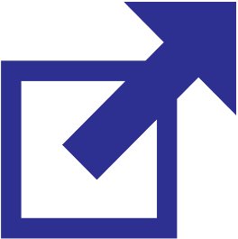 External link icon: a box with an arrow pointing out of it, to the top-right