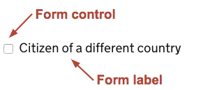 Image showing a checkbox control and label