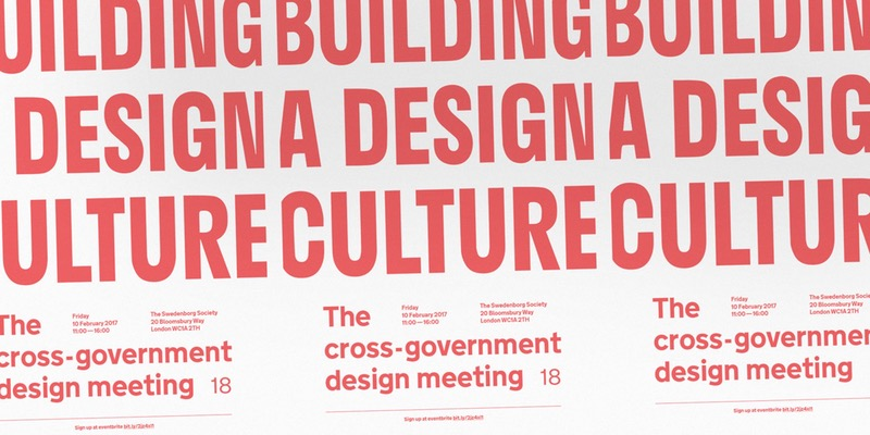 Graphic for the Cross-Government Design Meeting