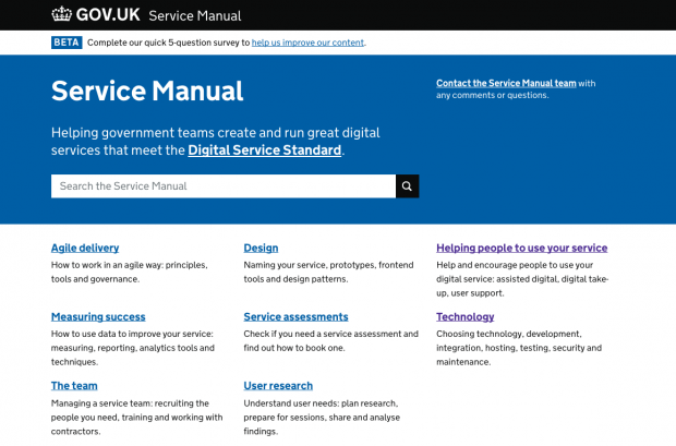 My copy of the Service Manual running on Heroku.
