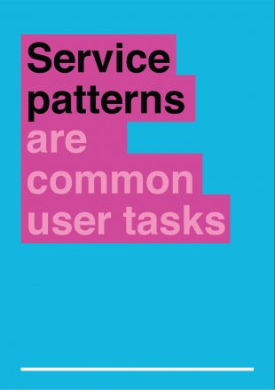 graphic saying 'service patterns are common user tasks'