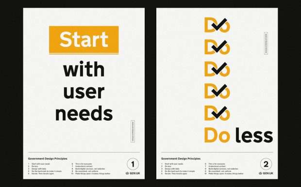 Government Design Principles 1 and 2: Start with users needs, and do less