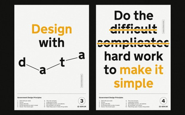 Government Design Principles 3 and 4: Design with data, and do the hard work to make it simple
