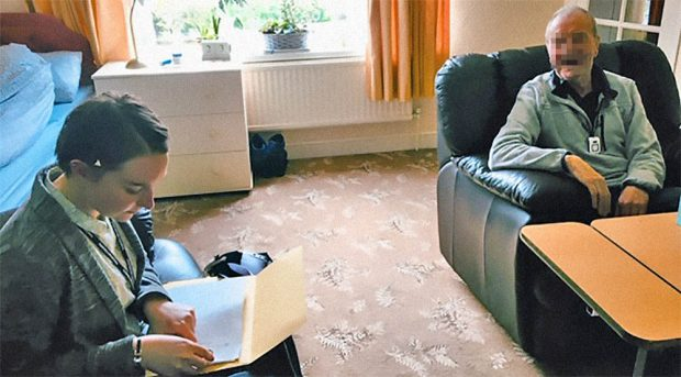 Lisa Kowalewski conducting user research at an elderly citizen's home in Stockport Council